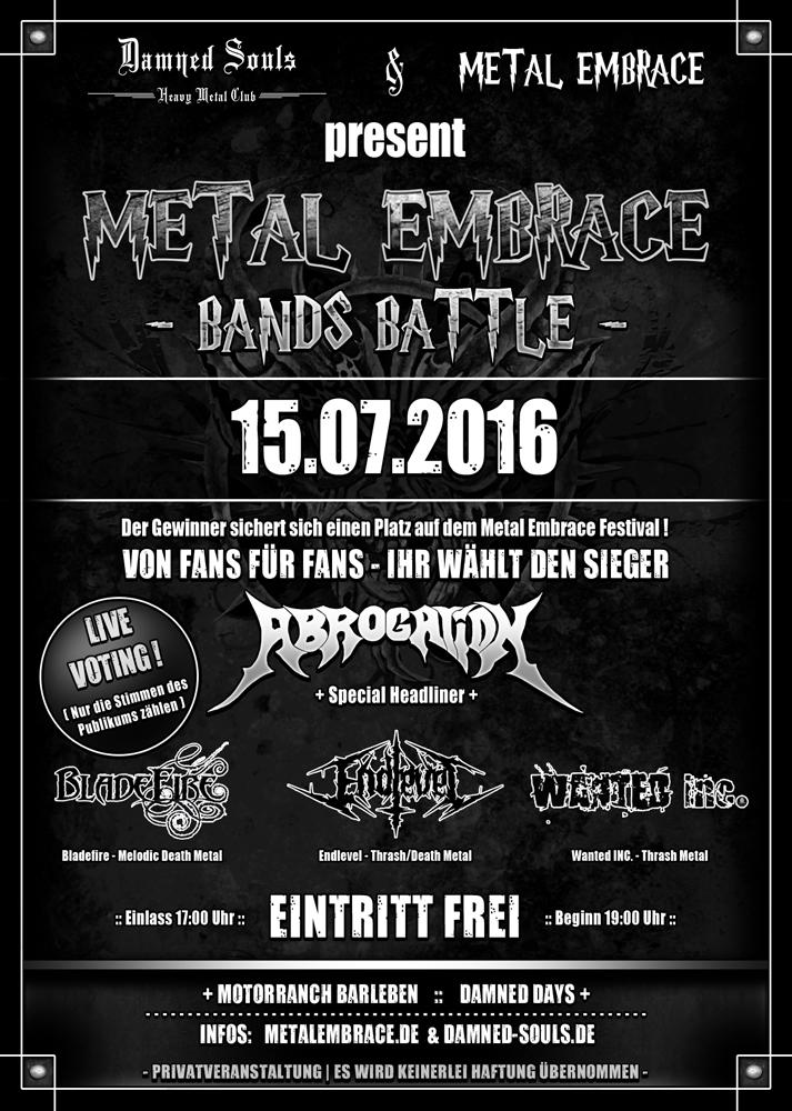 Damned Days 2016 - Bands Battle