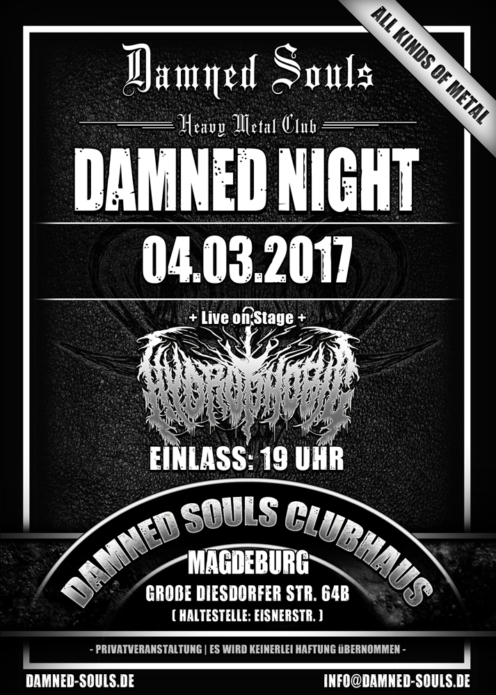Damned Souls - Damned Night 04-03-2017