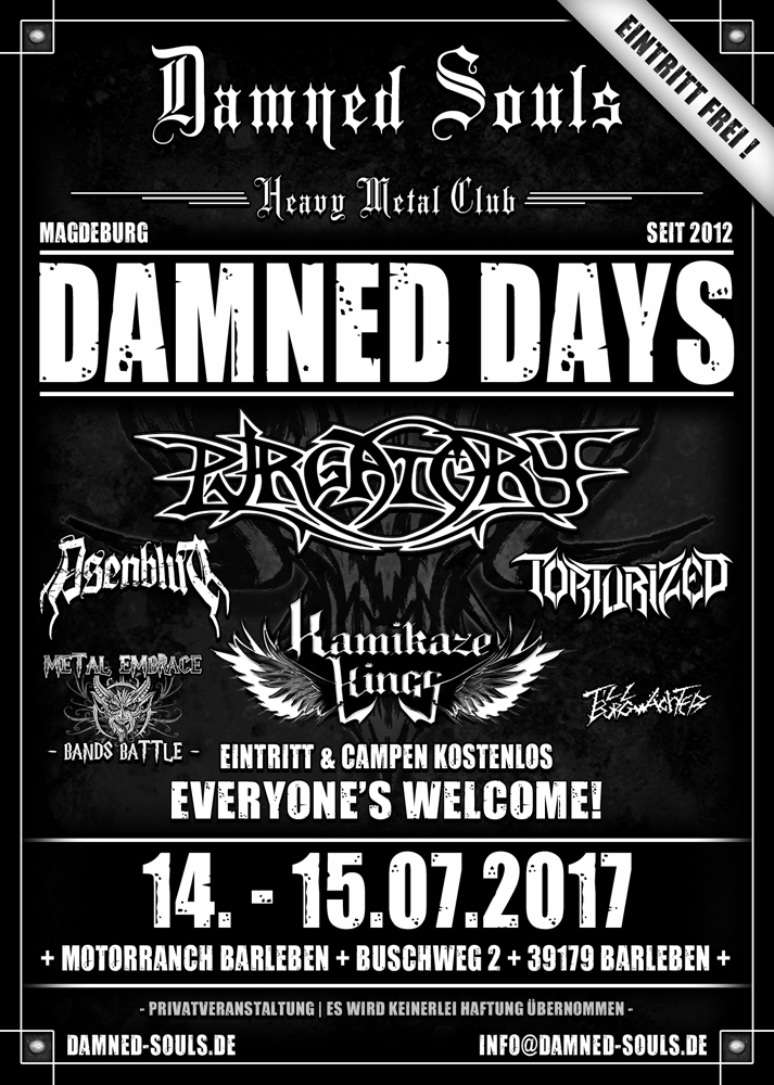 Damned Days 2017