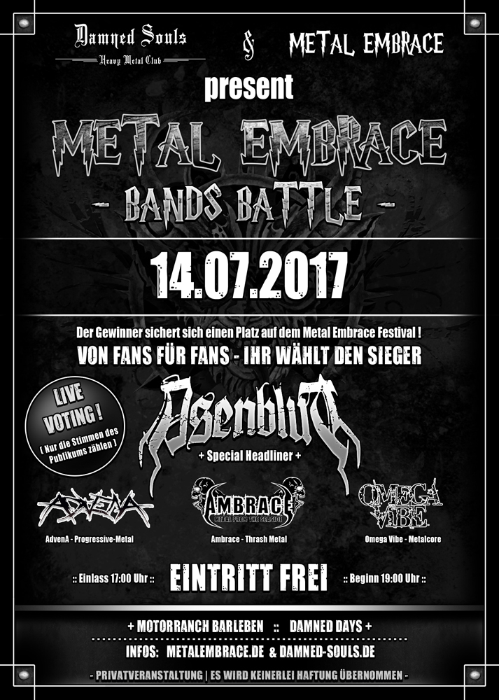 Damned Days 2017 - Metal Embrace Bands Battle