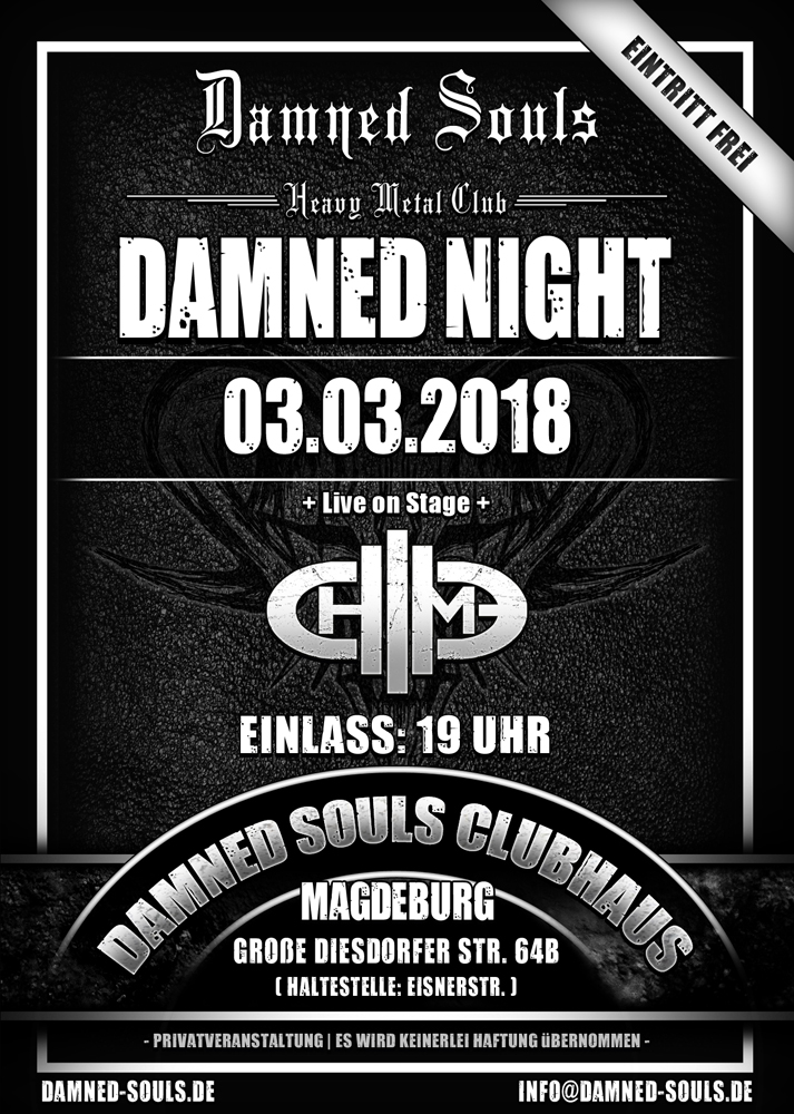 Damned Souls - Damned Night 03-03-2018