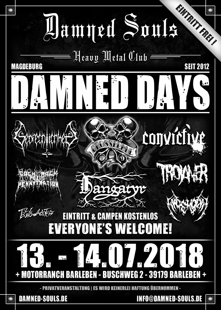 Damned Souls - Damned Days - 13.-14.07.2018