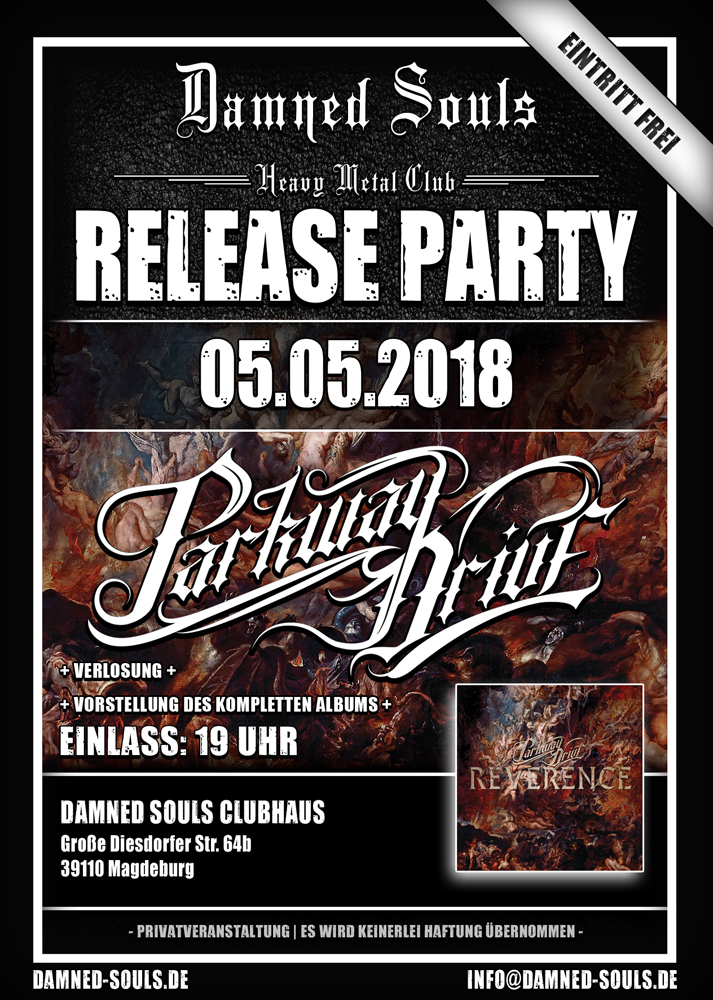 Damned Souls Release-Party Parkway Drive - Reverence - 2018-05-05