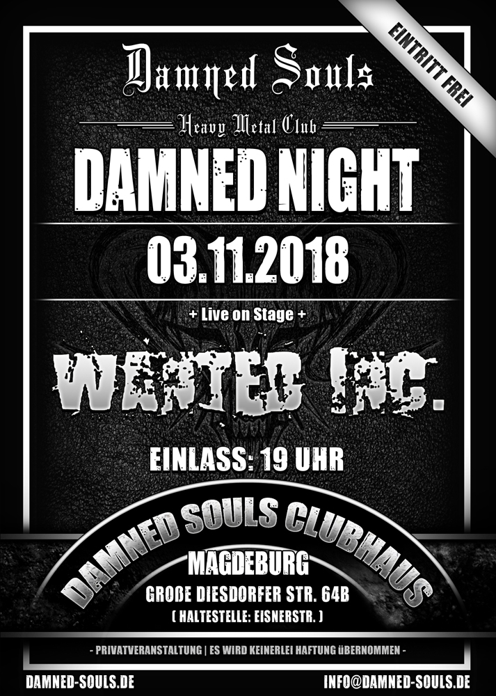 Damned Souls - Damned Night 03-11-2018