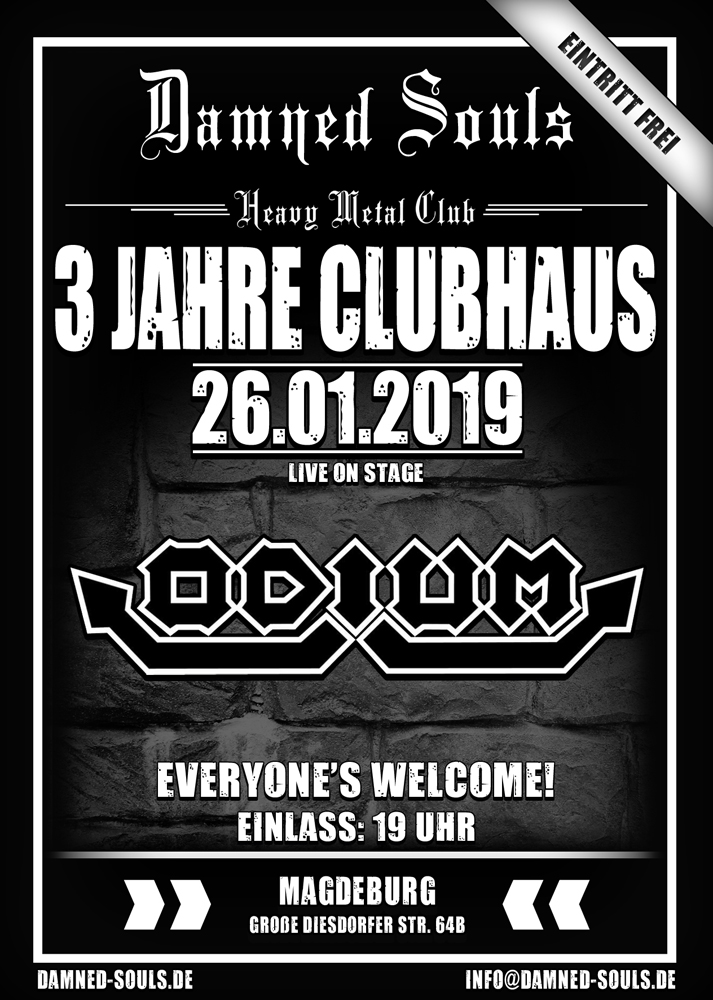 Damned Souls - 3 Jahre Clubhaus 26-01-2019