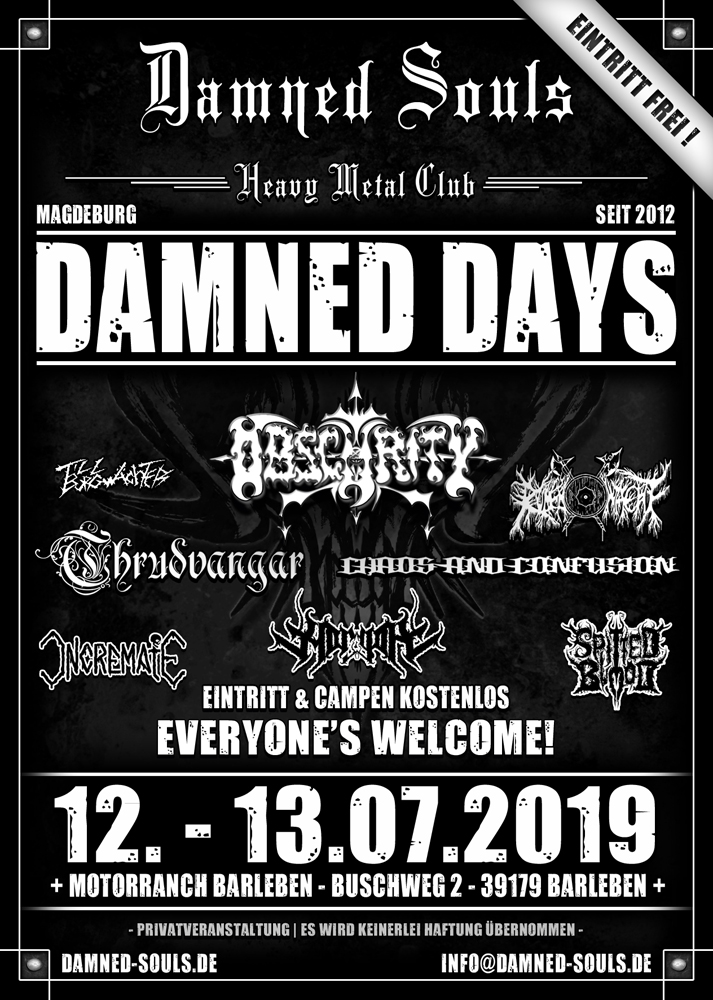Damned Souls - Damned Days 2019