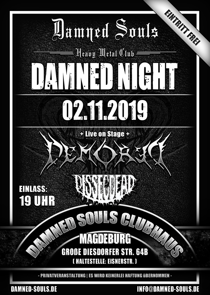 Damned Souls - Damned Night 02-11-2019