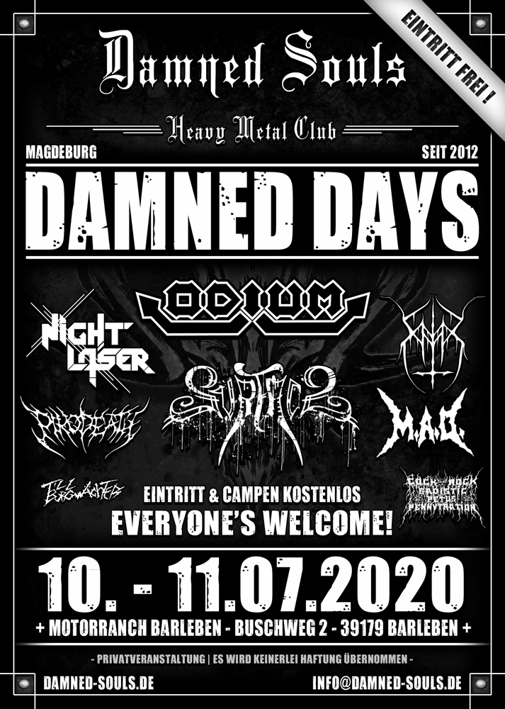 Damned Souls - Damned Days 2020