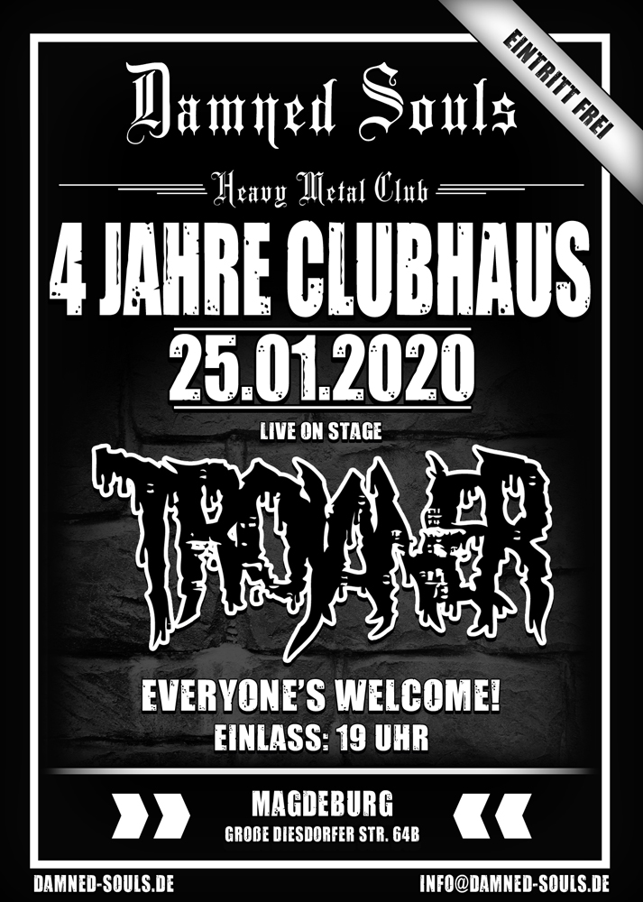 Damned Souls - 4 Jahre Clubhaus 25-01-2020