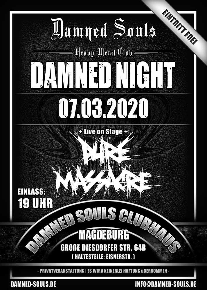 Damned Souls - Damned Night - 07-03-2020