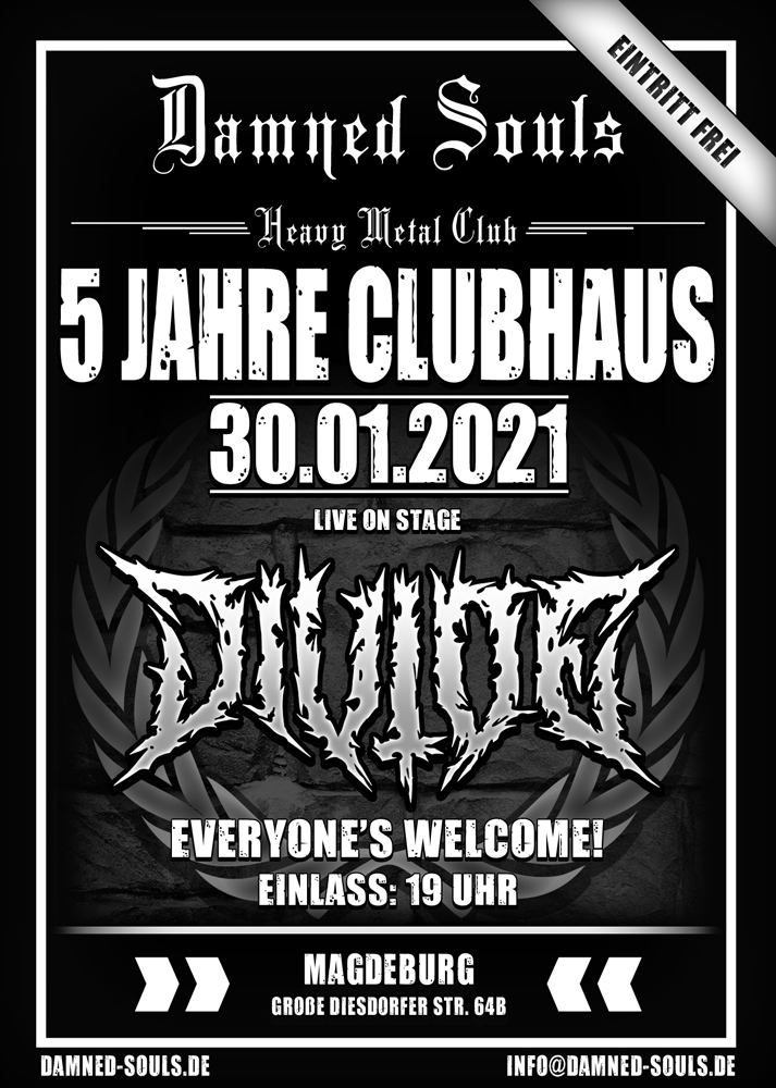 Damned Souls - 5 Jahre Clubhaus 30-01-2021