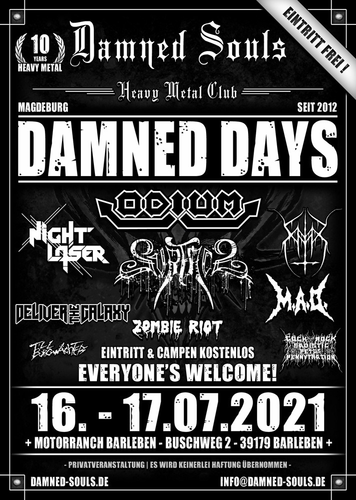Damned Souls - Damned Days 2021