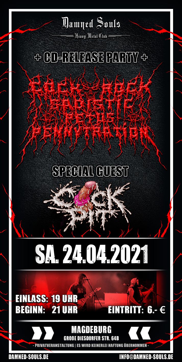 Damned Souls - Cockrock Sadidtic Petus Pennytration - 24.04.2021