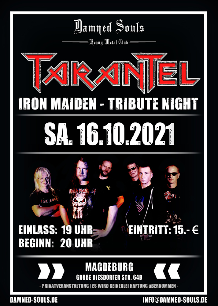 Damned Souls - Tarantel - 2021-10-16