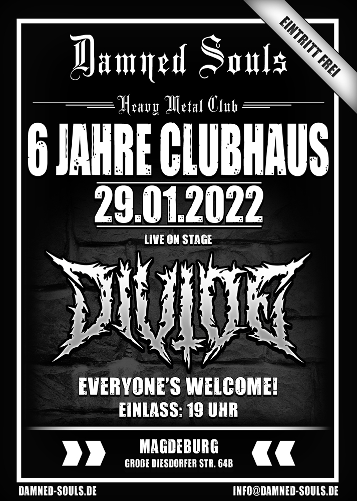 Damned Souls - 6 Jahre Clubhaus 29-01-2022